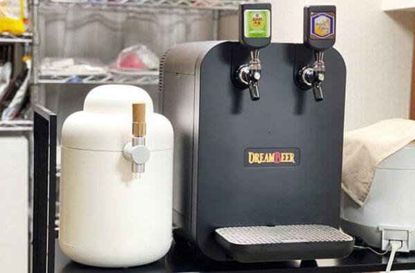 ビールサーバー キリン ホームタップ ドリームビア DREAMBEER 大きさ 比較